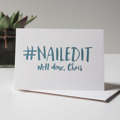 Nailed,It,Personalised,Card,-,Congratulations,Well,Done,Crushed,Exam,Driving,Test,Paper Goods,card,congratulations card, new job card, driving test card, well done card, nailed it card, congratulations