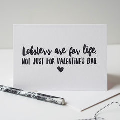 Lobster,Valentine's,Card,-,Funny,Lobster's,Are,For,Life,lobster, lobster card, valentines card, Paper_Goods,Cards,card,greetings_card,romantic_card,valentines_day_card,valentines_card