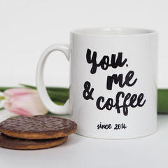 You,,Me,and,Coffee,Mug,-,Personalised,Valentine's,Gift,Anniversary,you me and coffee mug, coffee, personalised mug, valentines gift, valentines mug, anniversary gift, anniversary mug, romantic gift, romantic mug, mug