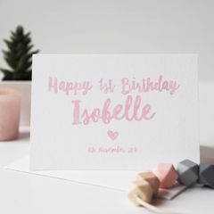Baby's,First,Birthday,Card,-,Personalised,Happy,1st,Baby,first birthday card, baby's first birthday card, personalised birthday card, personalised first birthday card, age card, birthday card, baby boy card, baby girl card, baby birthday card