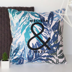 Couples,Ampersand,Botanical,Cushion,-,Personalised,House,Warming,Gift,For,Housewares,Pillow,cushion,personalised_cushion,custom_cushion,personalized_cushion,couples_cushion,gift_for_couples, house warming gift, new home gift, botanical cushion, anniversary gift