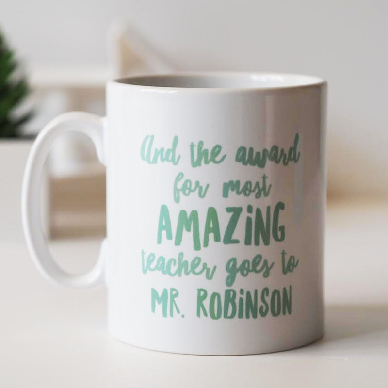 Amazing Teacher Award - Thank You Teacher Mug - Thank You Teacher Gift - Gift for Teacher - product images  of