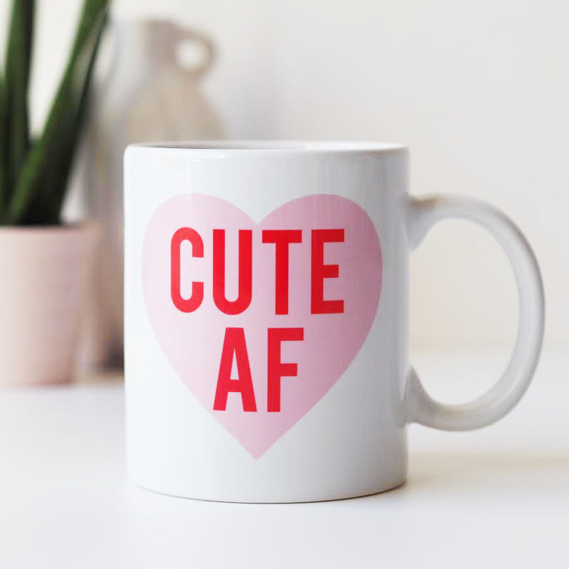 Cute AF Mug - Cute As F*ck Mug - Funny Mug Gift For Her - product images  of