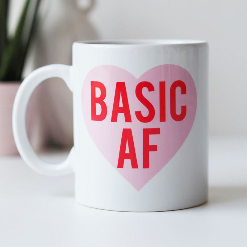 Basic AF Mug - Basic As F*ck Mug - Funny Mug Gift For Her - Basic Bitch - product images  of