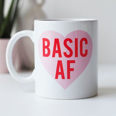 Basic,AF,Mug,-,As,F*ck,Funny,Gift,For,Her,Bitch,basic af, basic af mug, basic as fuck, funny mug, mug gift, mug for her, gift for her, basic as fuck mug, love heart, basic, basic bitch