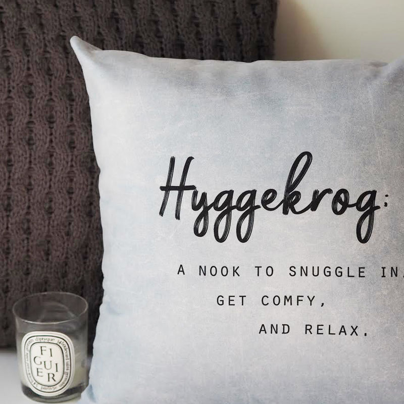 Hyggekrog Cushion - Hygge Cushion - Hygge - Typography Quote Cushion - product images  of