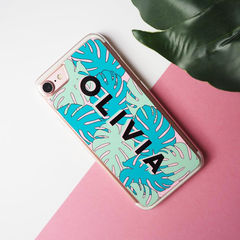 Personalised,Name,Monstera,Leaf,iPhone,7,Case,-,iPhone case, iPhone 7 case, monstera, monstera leaf, monstera iPhone case, tropical iPhone case, botanical iPhone cover, tropical, botanical, cheese plant, iPhone case, iPhone cover