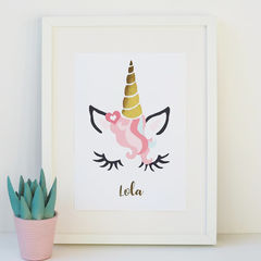 Unicorn,Gold,Foil,Print,-,Personalised,personalised gold foil unicorn print, unicorn print, gold foil print, gold foil unicorn print, personalised unicorn print, personalised gold foil print, nursery print, gold foil girls print, children's bedroom print