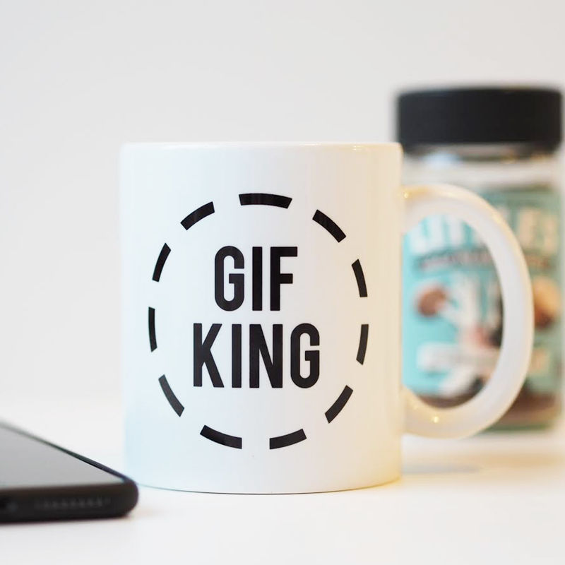Gif King Mug - Gif Queen Mug - Funny Mug Gift  - product images  of