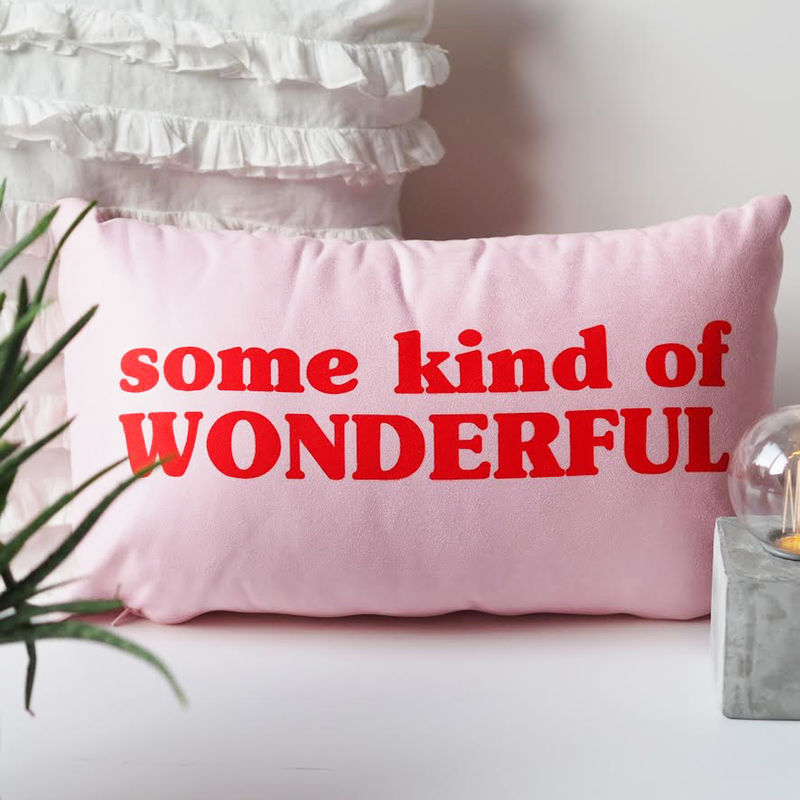 Some Kind of Wonderful Cushion - Wonderful Cushion - Cushion Gift for Her - product images  of
