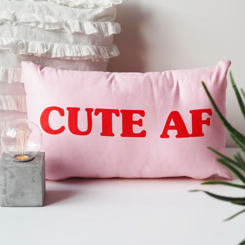 Cute AF Cushion - Cute Cushion - Cushion Gift for Her - Gift For Teen - product images  of