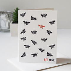 Bee,Mine,Valentines,Day,Card,-,bee mine, be mine, bee card, bee, bee lover, valentines day, valentines day card, valentines card, love, bee illustration, hand drawn