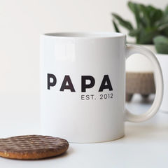 PAPA,Personalised,Mug,for,Dad,-,Father's,Day,Gift,For,papa mug, papa est, personalised mug, mug for dad, fathers day gift, fathers day mug, custom mug, dad fuel