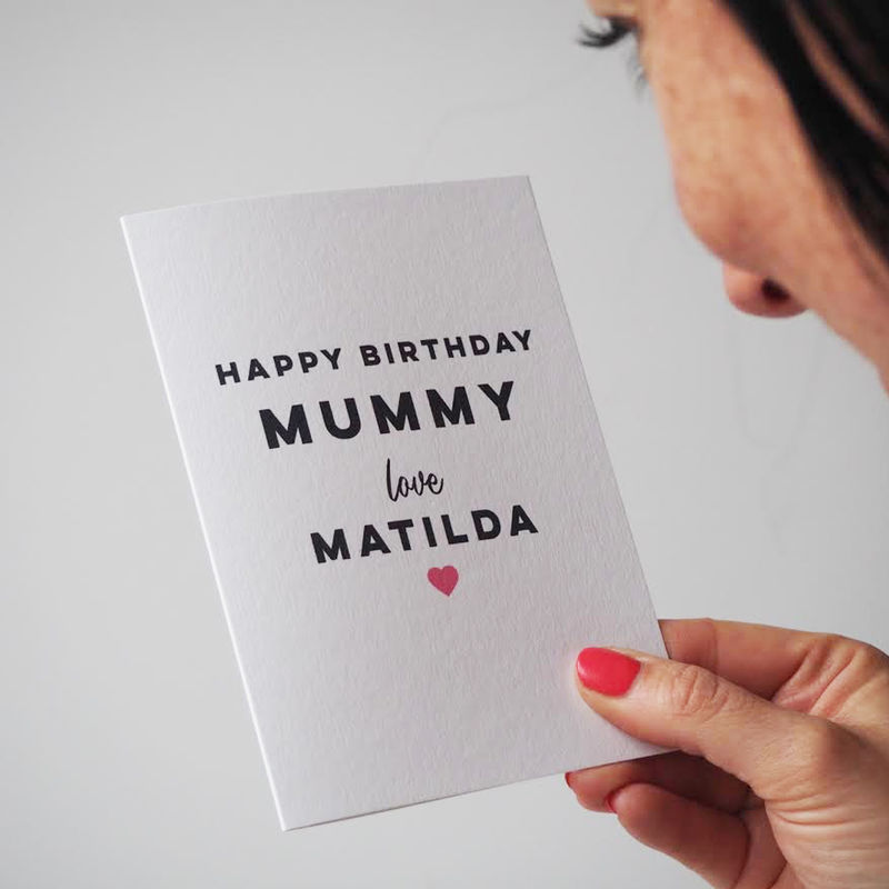 Personalised Happy Birthday Card For Mummy - Mummy Birthday Card - Happy Birthday Mummy - product images  of