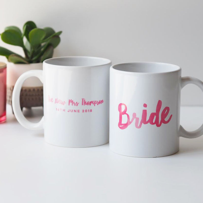 Personalised Bride Mug Gift - Bridesmaid Mug - Maid of Honour Mug - Hen Do Gift - product images  of