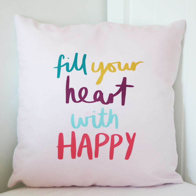 Fill Your Heart With Happy Cushion - product images  of