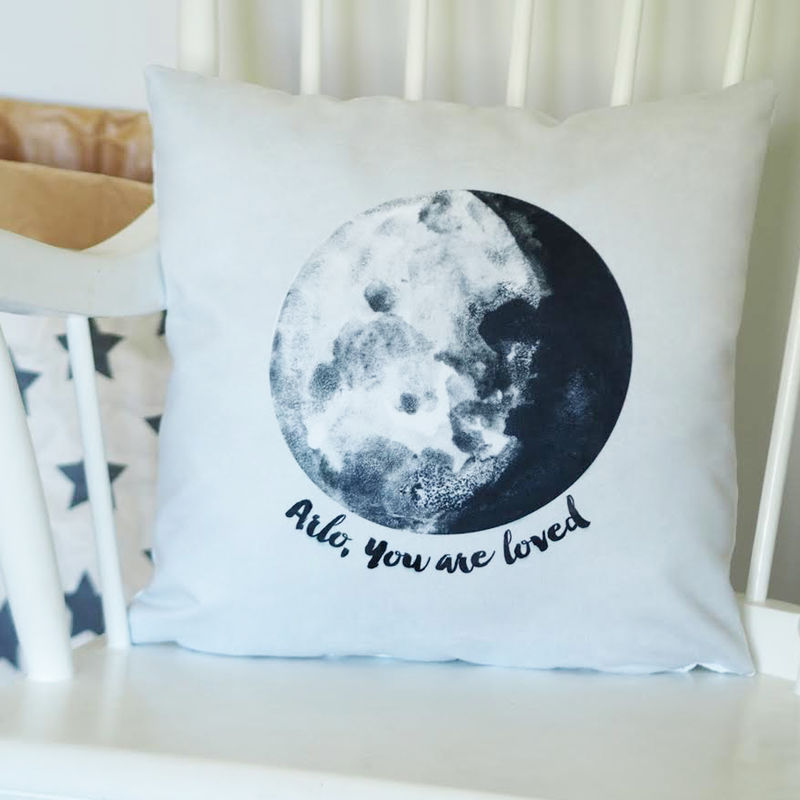 You Are Loved Moon Cushion - Personalised Kids Cushion - product images  of