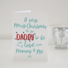 Daddy,To,Be,Merry,Christmas,Card,-,For,Paper Goods,card,christmas card, christmas, personalised christmas card, christmas card for daddy, merry christmas daddy, daddy to be card, merry christmas daddy to be, new dad, daddy christmas card, christmas card for dad