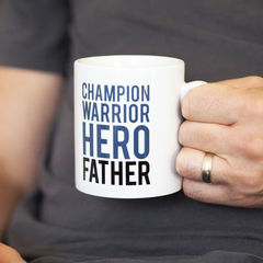 Champion,Warrior,Hero,Father,Mug,Gift,for,Dad,-,Father's,Day,champion, warrior, hero, father, dad mug, father mug, father's day gift, father's day mug, birthday gift for dad, new dad gift, mug for dad, daddy mug