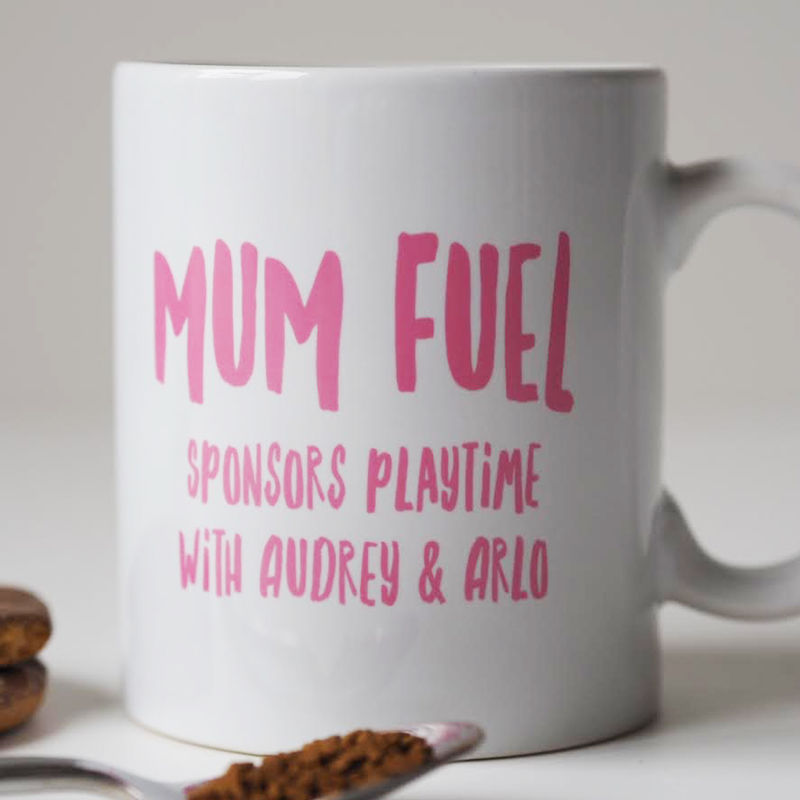 Mum Fuel Mug - Personalised Mum Mug - Gift For Mum - New Mum Gift - Mum Mug  - product images  of