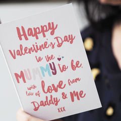 Mummy,To,Be,Valentine's,Day,Card,-,For,Paper Goods,card,valentine's day, Valentine's Day card, valentine's card, valentine's day card for mummy, Valentine's Day card from the bump, from daddy and me, card from bump, new mum to be valentine's card