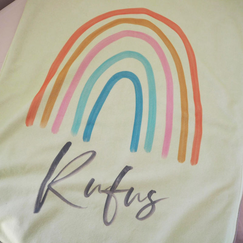 Personalised Rainbow Baby Blanket  - product images  of