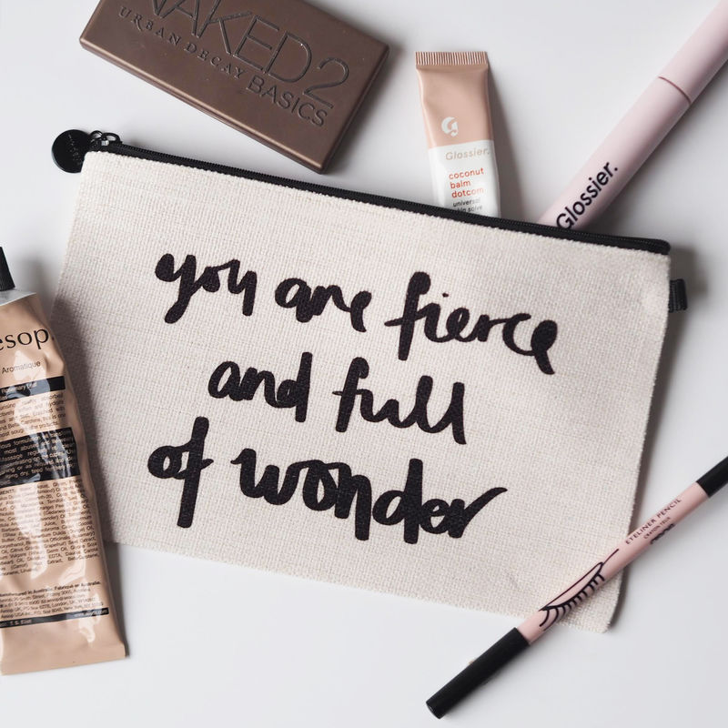 Fierce and Full Of Wonder Linen Make Up Pouch - product images  of