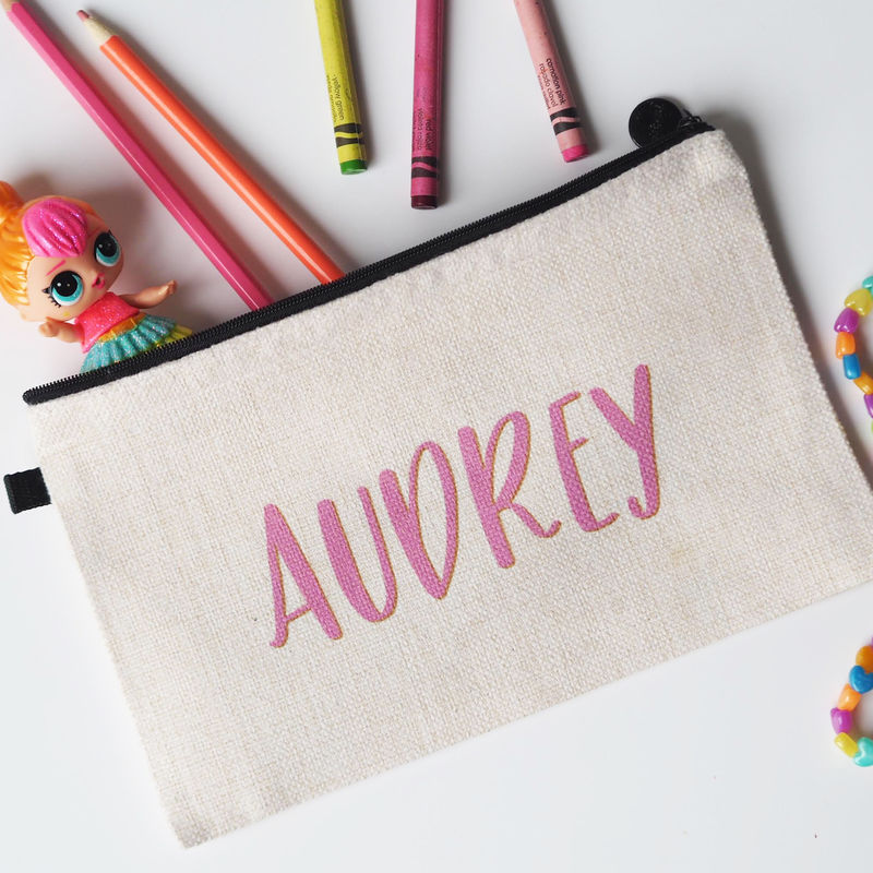 Personalised Name Rainbow Pencil Case / Pouch - product images  of