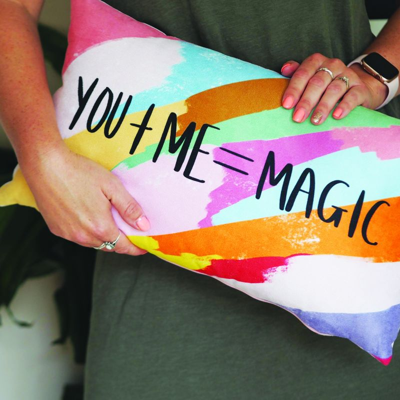 You + ME = Magic Hand Lettered Cushion - product images  of