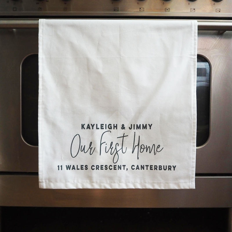 Personalised Our First Home Tea Towel - product images  of