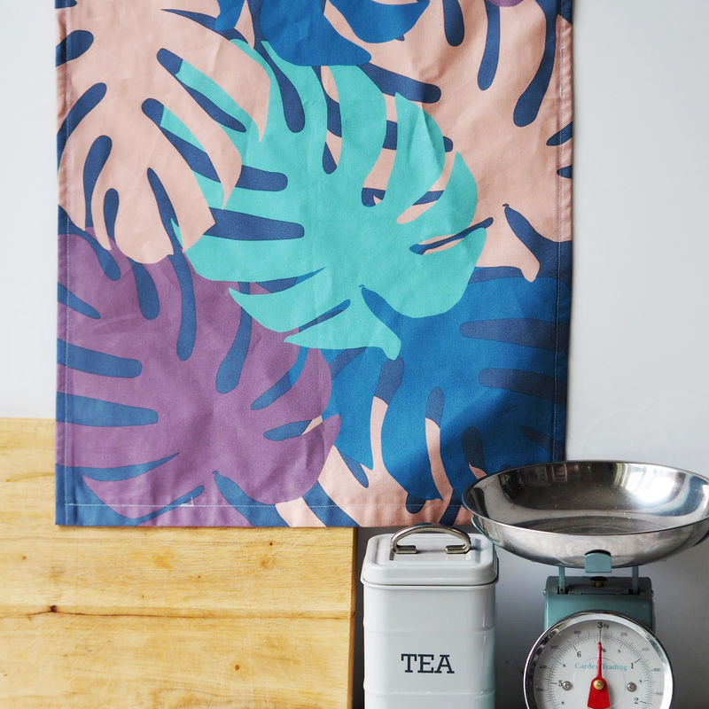 Monstera Print Decorative Tea Towel - product images  of