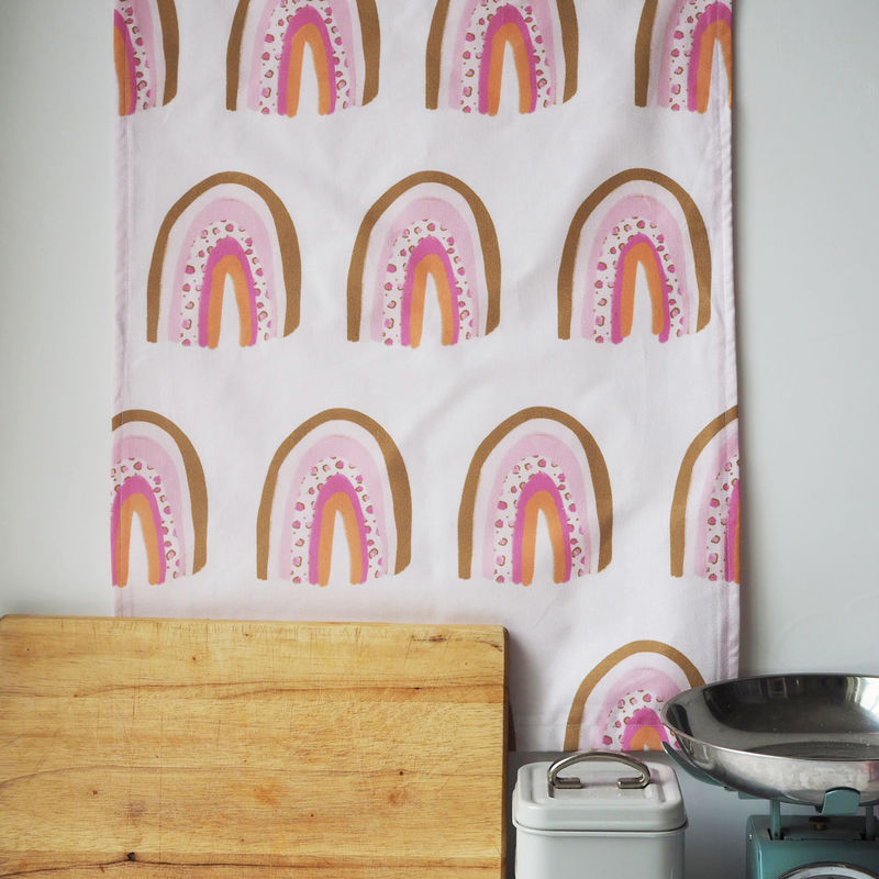 Rainbow Print Decorative Tea Towel - product images  of
