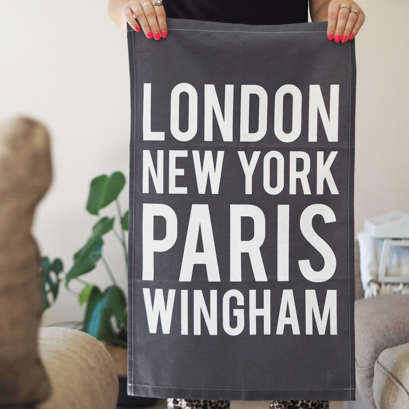 Personalised Location Decorative Tea Towel - product images  of
