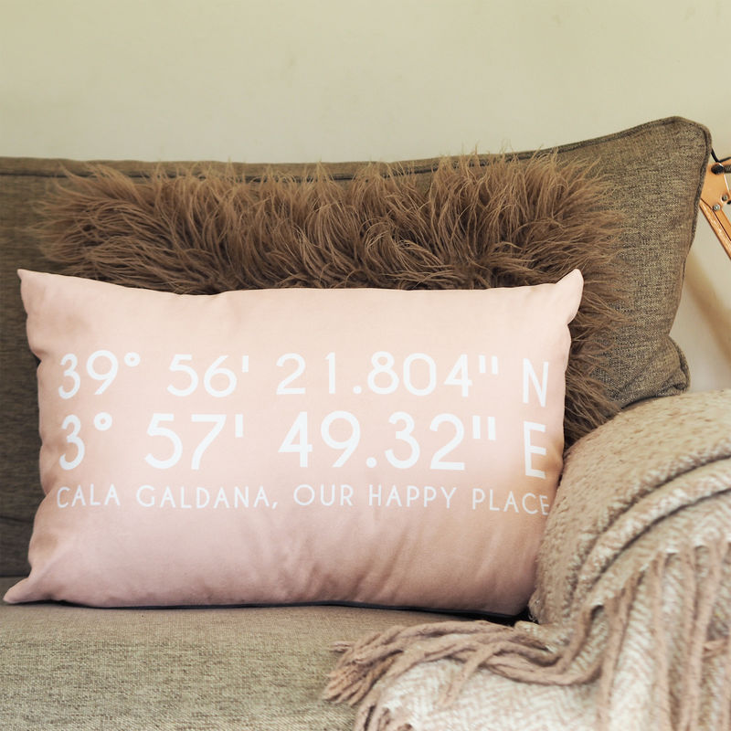 Personalised Coordinates Location Cushion - product images  of