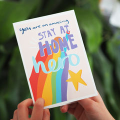 Stay,At,Home,Hero,Card,for,Kids,Paper_Goods,Cards,card,greetings_card, thank you card, hero card, you are my hero, my hero, stay at home, stay at home hero, hero kids, children, kids, hero