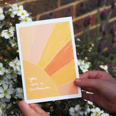 You,Are,A,Sunbeam,Friendship,Card,Paper_Goods,Cards,card,greetings_card, thank you card, sunbeam card, hand lettered card, card for friend, friendship card, sunshine, you are a sunbeam