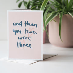 Then,You,Two,Were,Three,New,Baby,Card,Paper_Goods,Cards,card,greetings_card, new baby card, new baby, baby boy card baby girl card, then you two were three, family