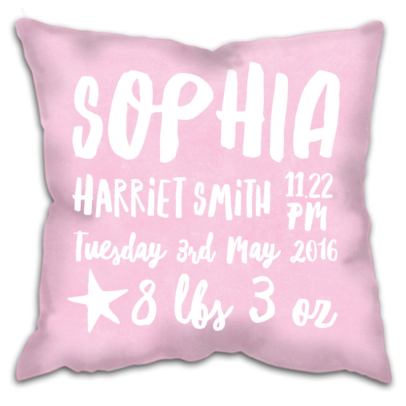 Personalised New Baby Details Cushion  - product images  of
