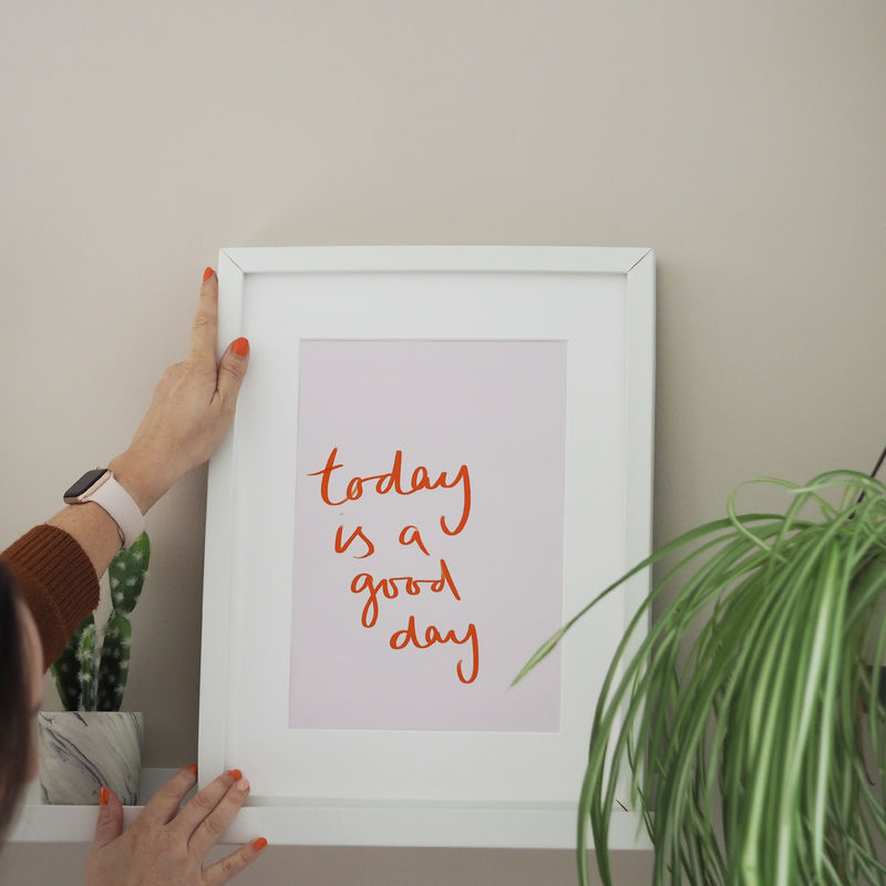 Today Is A Good Day Typography Art Print - product images  of