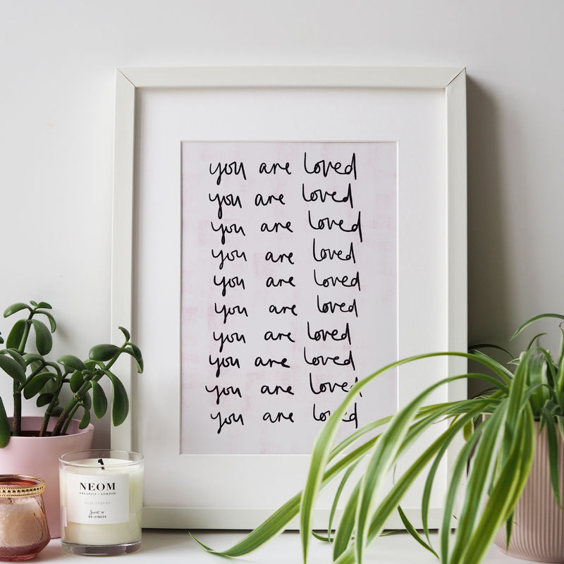 You Are Loved Hand Lettered Print - product images  of