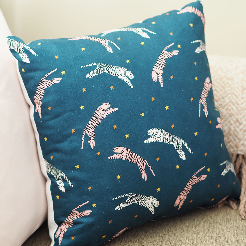 Tigers In The Stars Pattern Cushion - product images  of