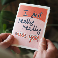 Really,Miss,You,Card,Paper_Goods,Cards,card,greetings_card, miss you, miss you card, isolation card, lockdown card, really miss you, hand lettering, greeting card