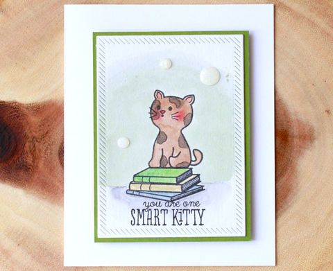 Smart,Kitty,Watercolor,Card,kitty, cat, smart kitty, watercolor card, graduate, graduating, cute card, animal, cute cat