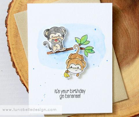BirthdayMonkeysmonkey Silly Funny Animal Birthday Card Handmade