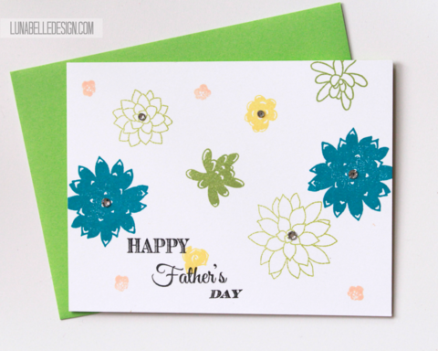Succulent,Fathers,Day,Card,floral fathers day, succulent card, stampin up, handmade fathers day card, green and yellow, blue and green,