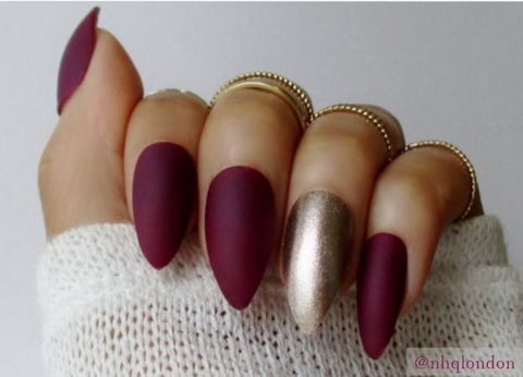 Berry,Good,fall nails 2016, Press On Nails, False Nails Uk, False Nails, Stiletto Nails, Berry Stiletto Nails, Matte Nails, Nail Art UK, Acrylic Nails
