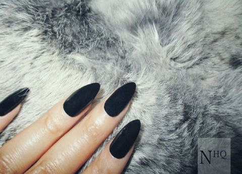 Black,Stiletto,Black stiletto nails, press on nails, fake nails, nails,