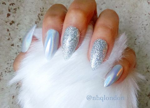 Unicorn,Holo,Magic,Holographic nails uk, Holographic press on nails, press on nails uk, press on nails, holo stiletto nails