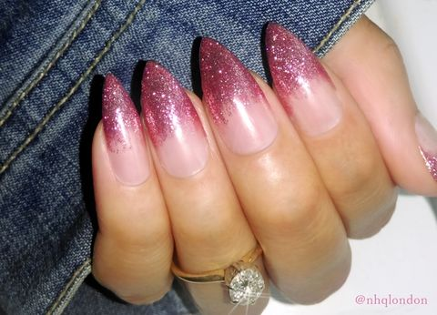 Rosé Bae Fade Rose Gold Nails Stiletto Press