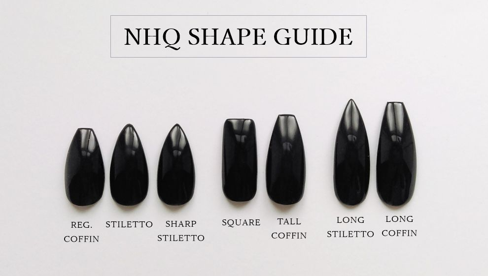 GLOSSY GREY COFFIN NAILS - product images  of